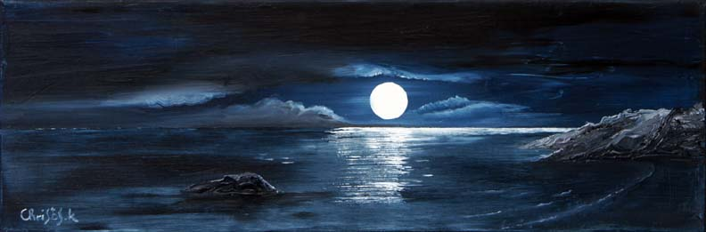 Moonlight seashore